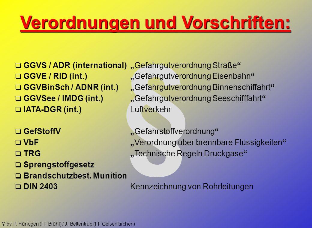 © by P. Hündgen (FF Brühl) / J. Bettentrup (FF Gelsenkirchen) Zielsetzung der Ausbildung: Die größtmögliche GEFAHR, die von Ihnen ausgeht Gefahren ver