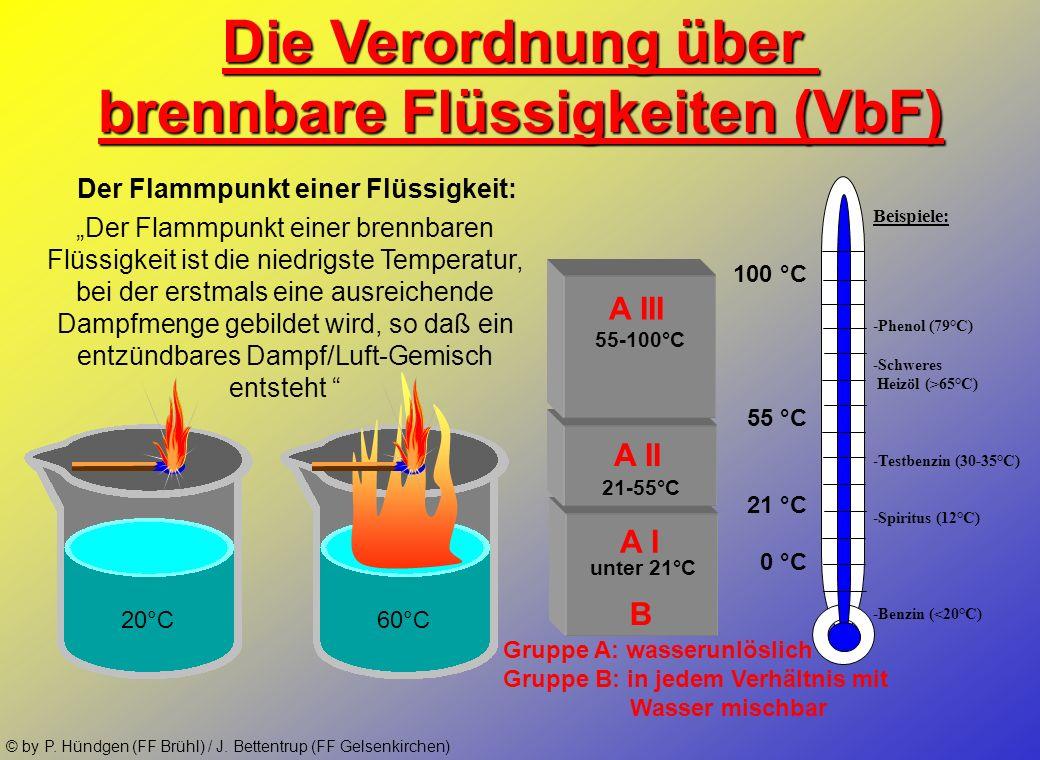 © by P. Hündgen (FF Brühl) / J. Bettentrup (FF Gelsenkirchen) Die Gefahrstoffverordnung : Die GefStoffV regelt den Umgang mit gefährlichen Stoffen. Ge