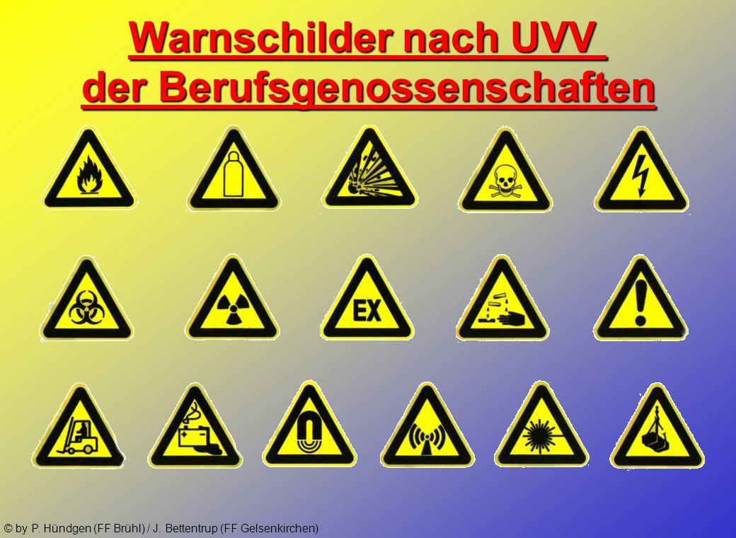 © by P. Hündgen (FF Brühl) / J. Bettentrup (FF Gelsenkirchen) Transportkennzeichnungen
