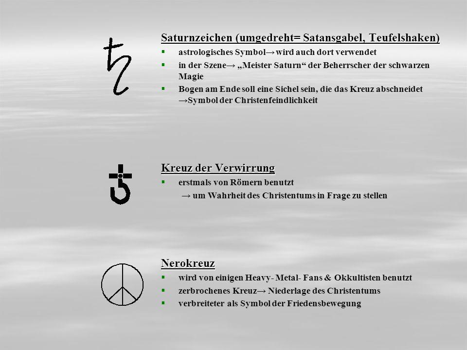 Saturnzeichen (umgedreht= Satansgabel, Teufelshaken) astrologisches Symbol wird auch dort verwendet in der Szene Meister Saturn der Beherrscher der sc