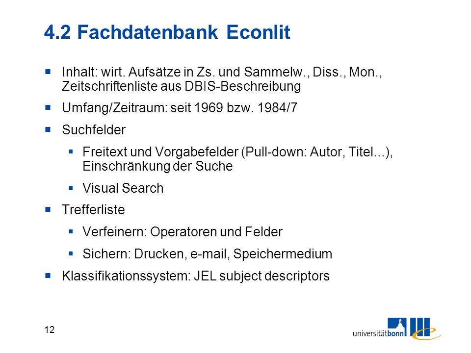 11 4.1 Fachdatenbanken Wirtschaft in DBIS