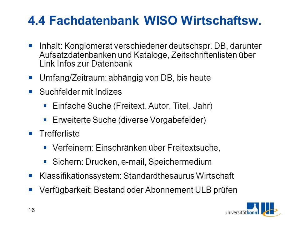 15 4.3 Fachdatenbank SSCI