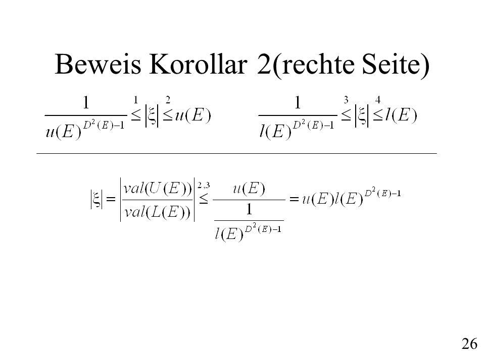Beweis Korollar 2(rechte Seite) 26