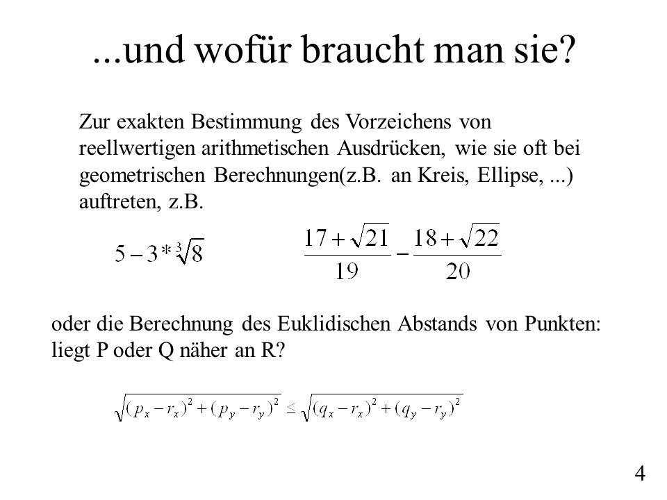 Berechnung & Bsp: dag Man wandelt einen gegebenen Ausdruck entgegen den Rechenregeln in einen dag (directed acylic graph) um: die Operationen sind die inneren Knoten, die Zahlen sind die Senken 5