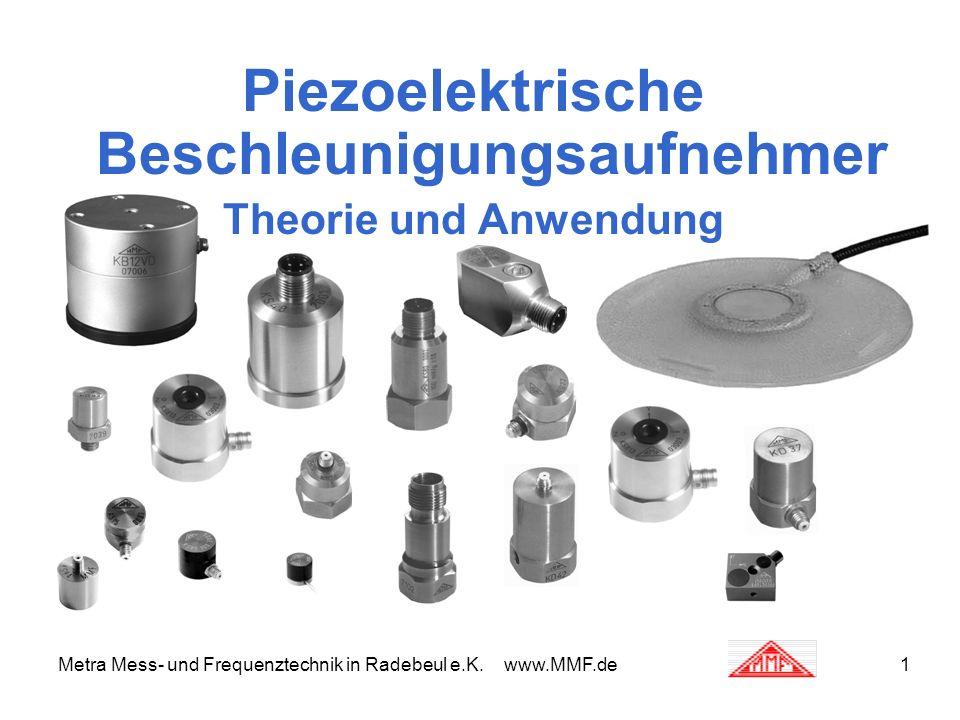 Metra Mess- und Frequenztechnik in Radebeul e.K. www.MMF.de1 Piezoelektrische Beschleunigungsaufnehmer Theorie und Anwendung