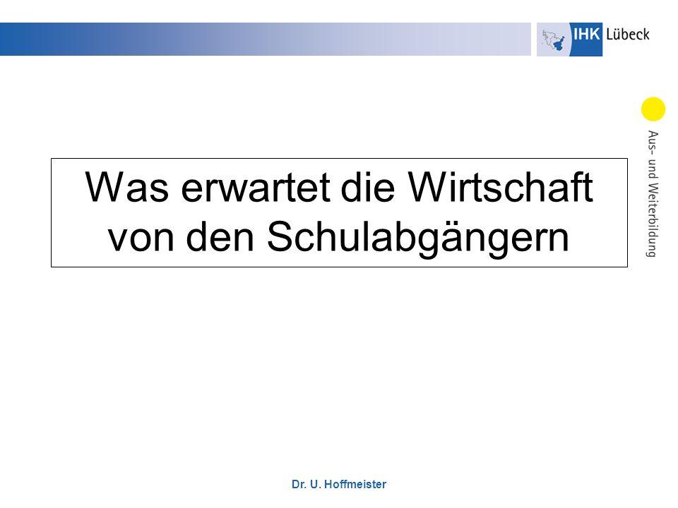 Dr.U. Hoffmeister I. Fachliche Kompetenzen 1.
