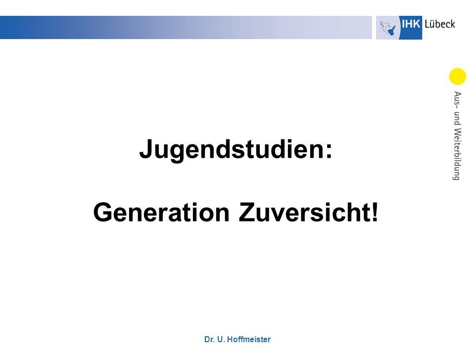 Dr. U. Hoffmeister Jugendstudien: Generation Zuversicht!