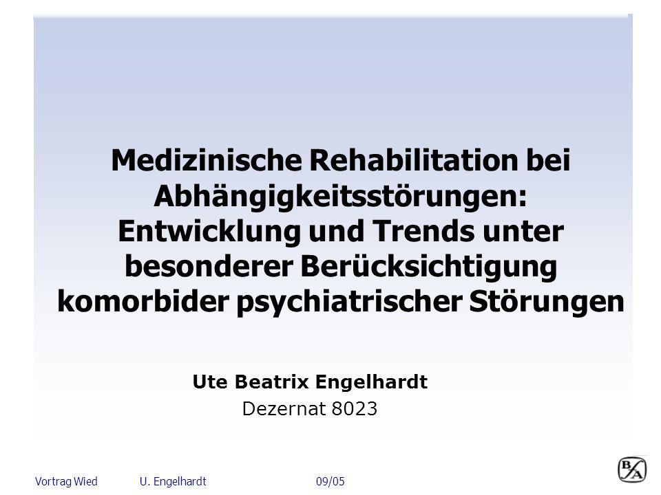 Vortrag Wied U. Engelhardt 09/05 Medizinische Rehabilitation bei Abhängigkeitsstörungen: Entwicklung und Trends unter besonderer Berücksichtigung komo