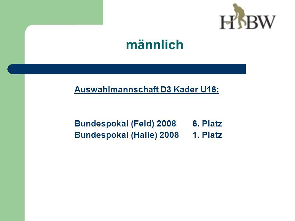Auswahlmannschaft D3 Kader U16: Bundespokal (Feld) 20086.