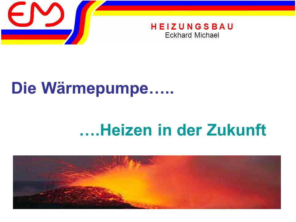 H E I Z U N G S B A U Eckhard Michael Funktionsweise Mittels eines Verdampfers (Wärmetauscher) wird die Umweltwärme auf eine FCKW freies Arbeitsmedium (Kältemittel) übertragen… …das Arbeitsmedium wird mit einem Verdichter (Kompressor) auf einen höheren Druck gebracht.