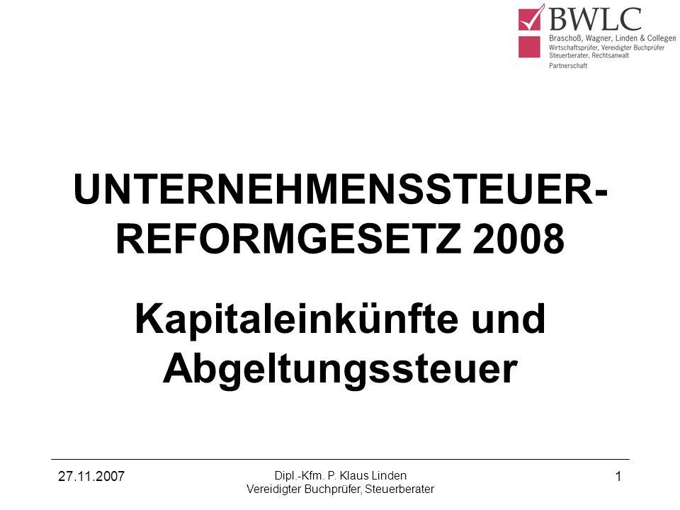 27.11.2007 Dipl.-Kfm.P.