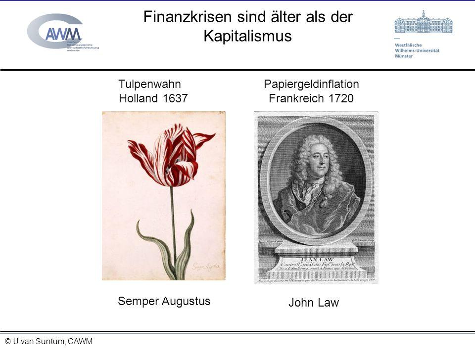 © Prof. Dr. Ulrich van Suntum 6.3.2008 Finanzkrisen sind älter als der Kapitalismus 15.11.2013 Semper Augustus Tulpenwahn Holland 1637 John Law Papier