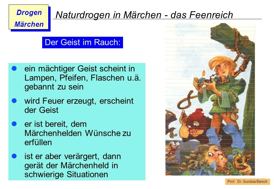 Prof. Dr. Gundula Barsch Drogen Märchen Naturdrogen in Märchen - das Feenreich ein mächtiger Geist scheint in Lampen, Pfeifen, Flaschen u.ä. gebannt z
