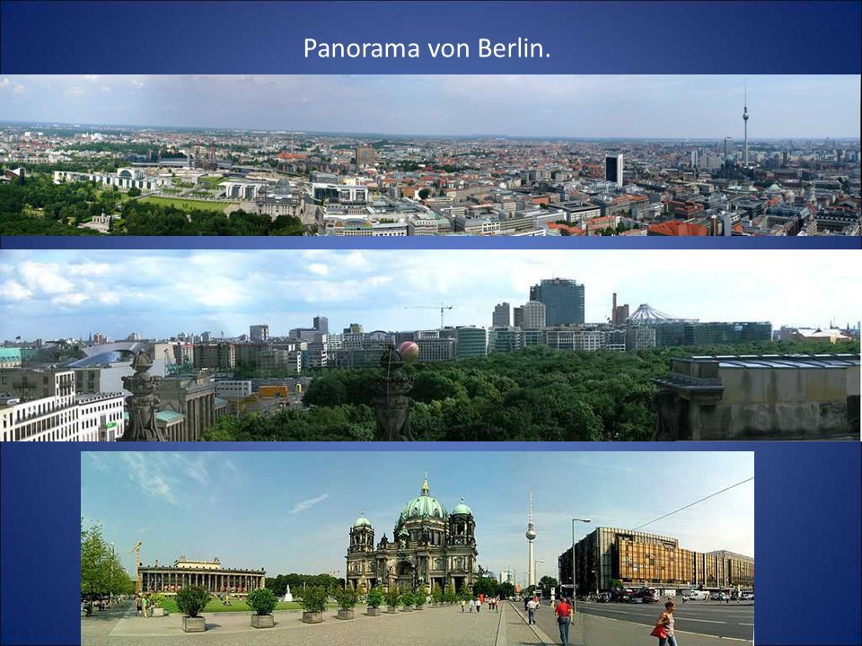 Panorama von Berlin.