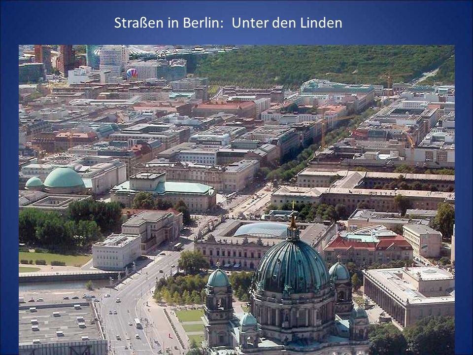 Straßen in Berlin: Unter den Linden