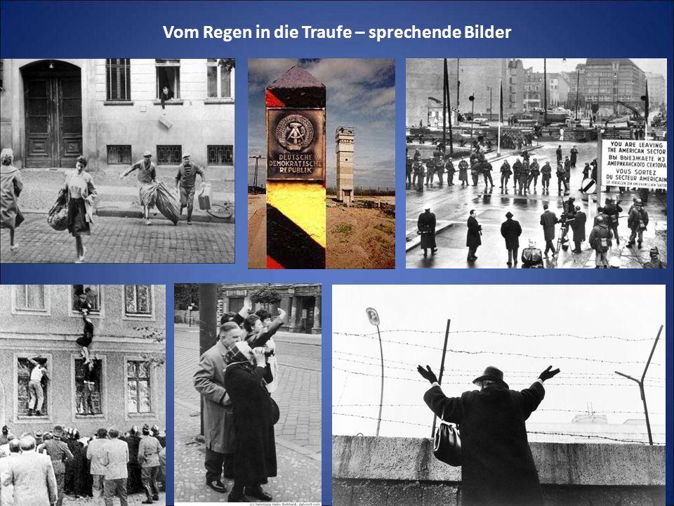 Einzelne mutige und phantasievolle Fluchtgeschichten An der Berliner Mauer speziell gab es ca.