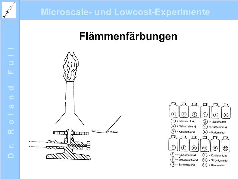 Microscale- und Lowcost-Experimente D r. R o l a n d F u l l Flämmenfärbungen