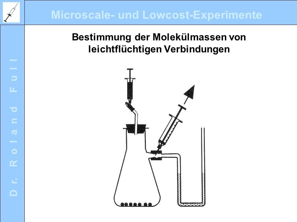 Microscale- und Lowcost-Experimente D r. R o l a n d F u l l Bestimmung der Molekülmassen von leichtflüchtigen Verbindungen