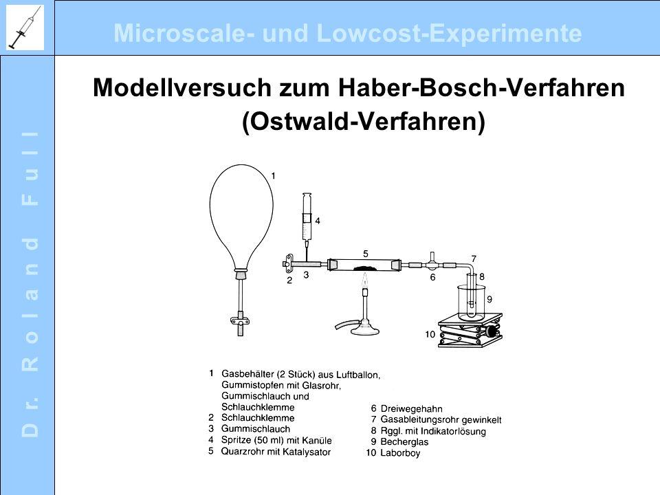 Microscale- und Lowcost-Experimente D r. R o l a n d F u l l Modellversuch zum Haber-Bosch-Verfahren (Ostwald-Verfahren)