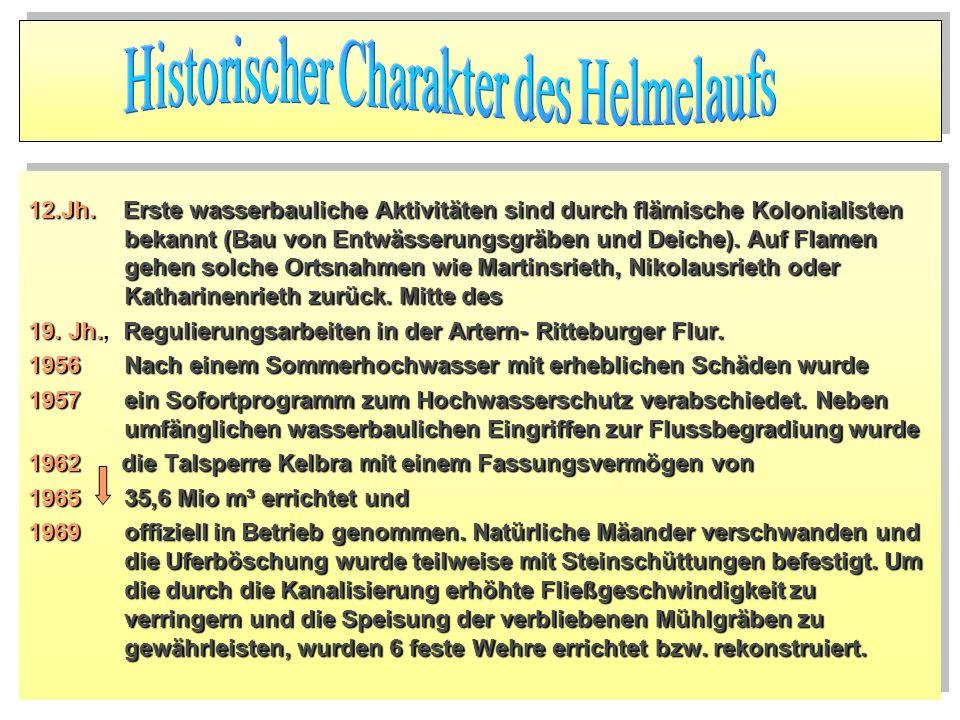 12.Jh. Erste wasserbauliche Aktivitäten sind durch flämische Kolonialisten bekannt (Bau von Entwässerungsgräben und Deiche). Auf Flamen gehen solche O