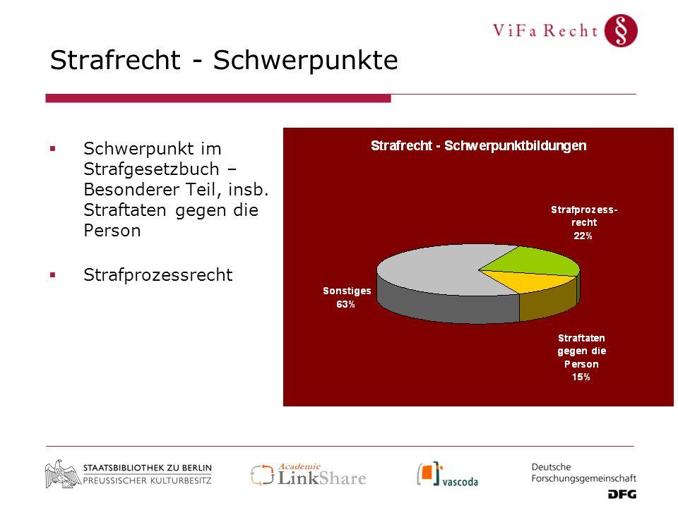 Strafrecht - Schwerpunkte Schwerpunkt im Strafgesetzbuch – Besonderer Teil, insb.