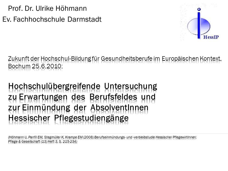Prof. Dr. Ulrike Höhmann Ev. Fachhochschule Darmstadt