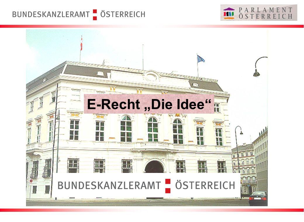 E-Recht Die Idee