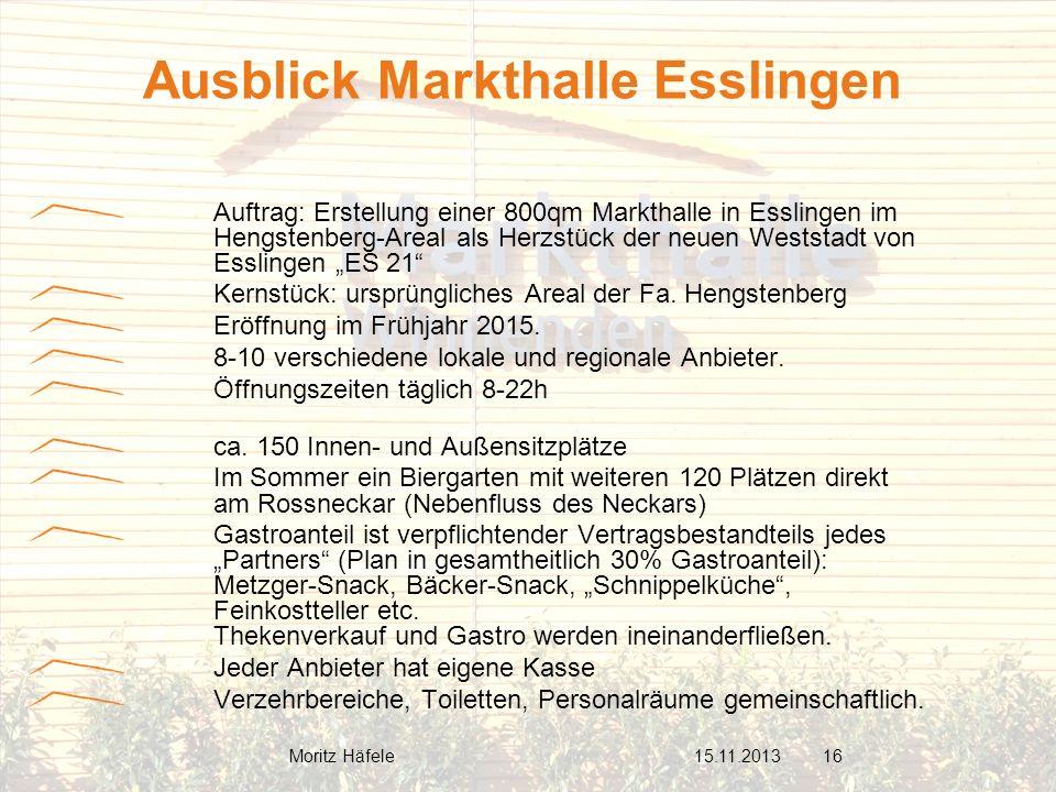 Auftrag: Erstellung einer 800qm Markthalle in Esslingen im Hengstenberg-Areal als Herzstück der neuen Weststadt von Esslingen ES 21 Kernstück: ursprün