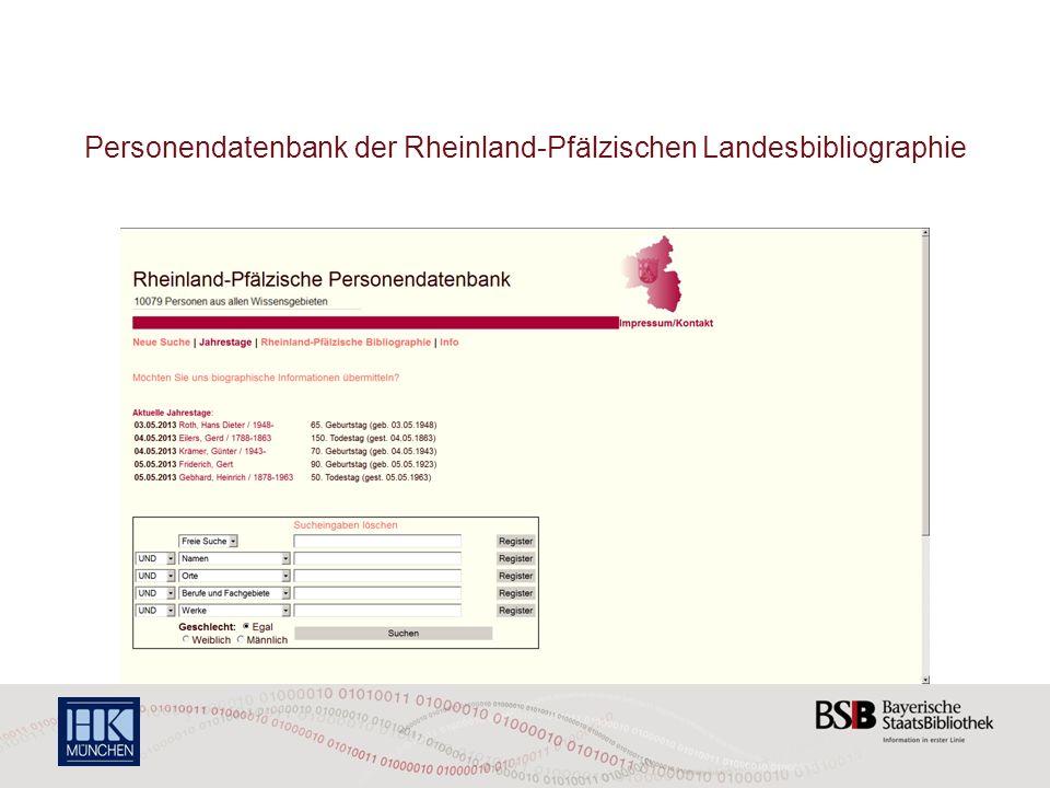 Personendatenbank der Rheinland-Pfälzischen Landesbibliographie