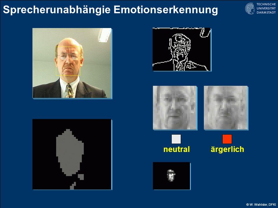 © W. Wahlster, DFKI ärgerlichneutral Sprecherunabhängie Emotionserkennung