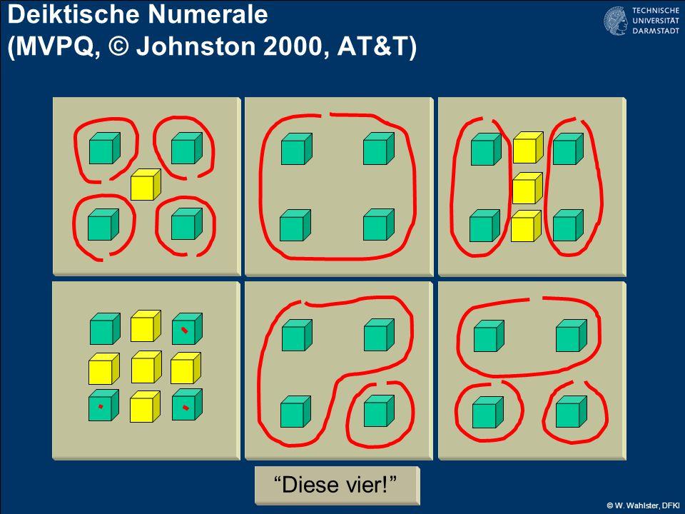 © W. Wahlster, DFKI Deiktische Numerale (MVPQ, © Johnston 2000, AT&T) Diese vier!