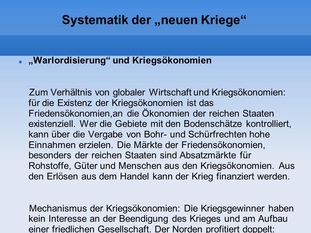 Systematik der neuen Kriege B.