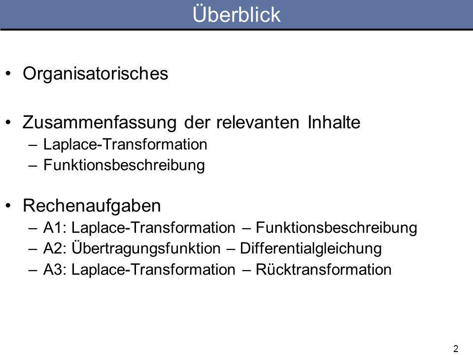 3 Organisatorisches Nächste RU –MI, 22.04.2009 –Nächste Woche: Vorlesung.