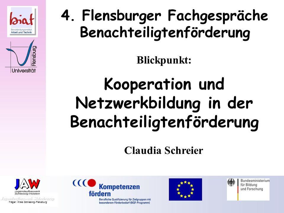 4.Flensburger Fachgespräche Benachteiligtenförderung Vielen Dank für Ihre Aufmerksamkeit Dr.