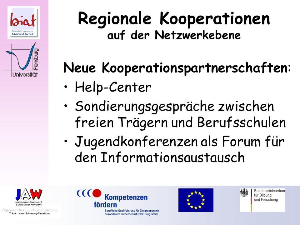 Meilensteine: Thematisierung der Konkurrenzsituation Institutionalisierung der Reflexionstreffen Regionale Kooperationen der Berufsgruppen in den Einr