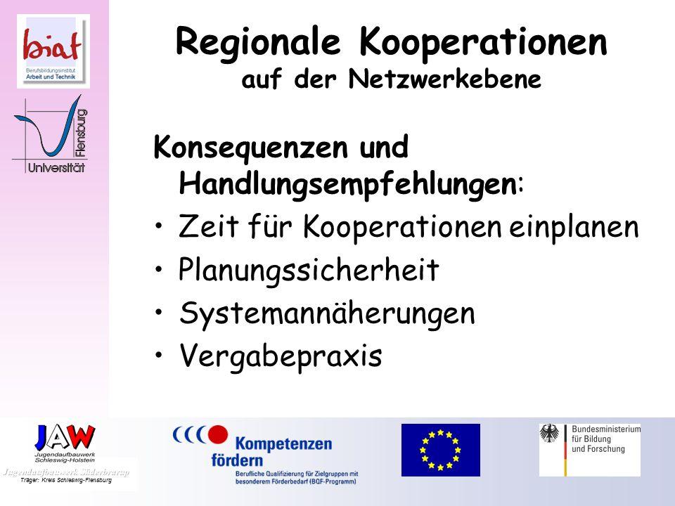 Regionale Kooperationen auf der Netzwerkebene Neue Kooperationspartnerschaften: Help-Center Sondierungsgespräche zwischen freien Trägern und Berufssch
