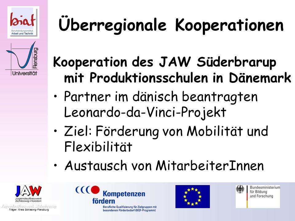 Überregionale Kooperationen Kooperation der Beruflichen Schulen Schleswig mit der Berufsschule Erfurt Austausch von Lehrkräften, die in Jugendhaftanst