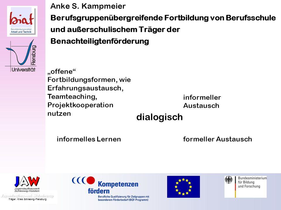 Anke S. Kampmeier Berufsgruppenübergreifende Fortbildung von Berufsschule und außerschulischem Träger der Benachteiligtenförderung professions- und in