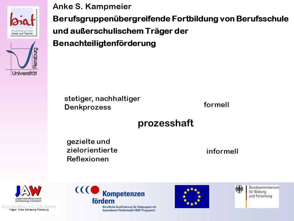 Anke S. Kampmeier Berufsgruppenübergreifende Fortbildung von Berufsschule und außerschulischem Träger der Benachteiligtenförderung dialogisch offene F