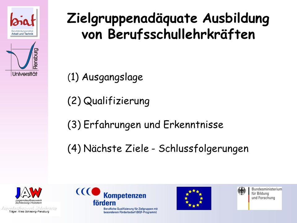 4. Flensburger Fachgespräche Benachteiligtenförderung Zielgruppenadäquate Ausbildung von Berufsschullehrkräften Ralf Petersen