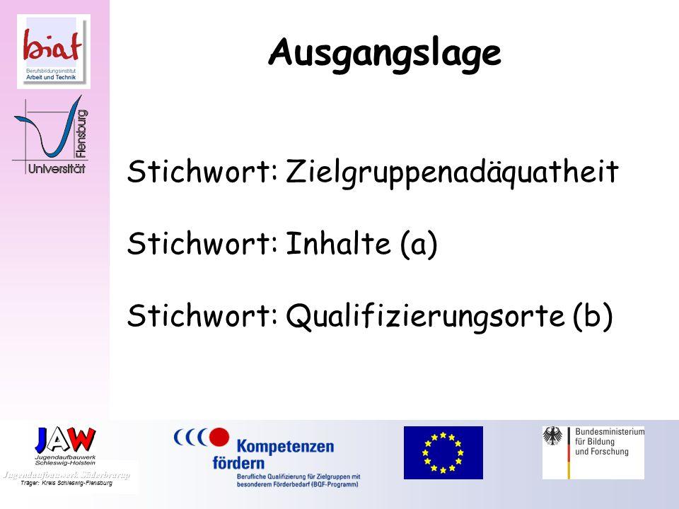 Zielgruppenadäquate Ausbildung von Berufsschullehrkräften ( 1) Ausgangslage (2) Qualifizierung (3) Erfahrungen und Erkenntnisse (4) Nächste Ziele - Sc