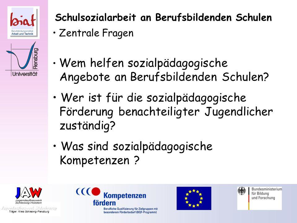 Schulsozialarbeit an Berufsbildenden Schulen Zentrale Fragen Vorläufige Antworten Perspektiven Dr. Beatrix Niemeyer