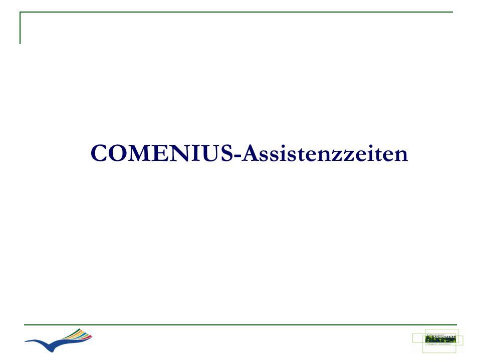 COMENIUS-Assistenzzeiten
