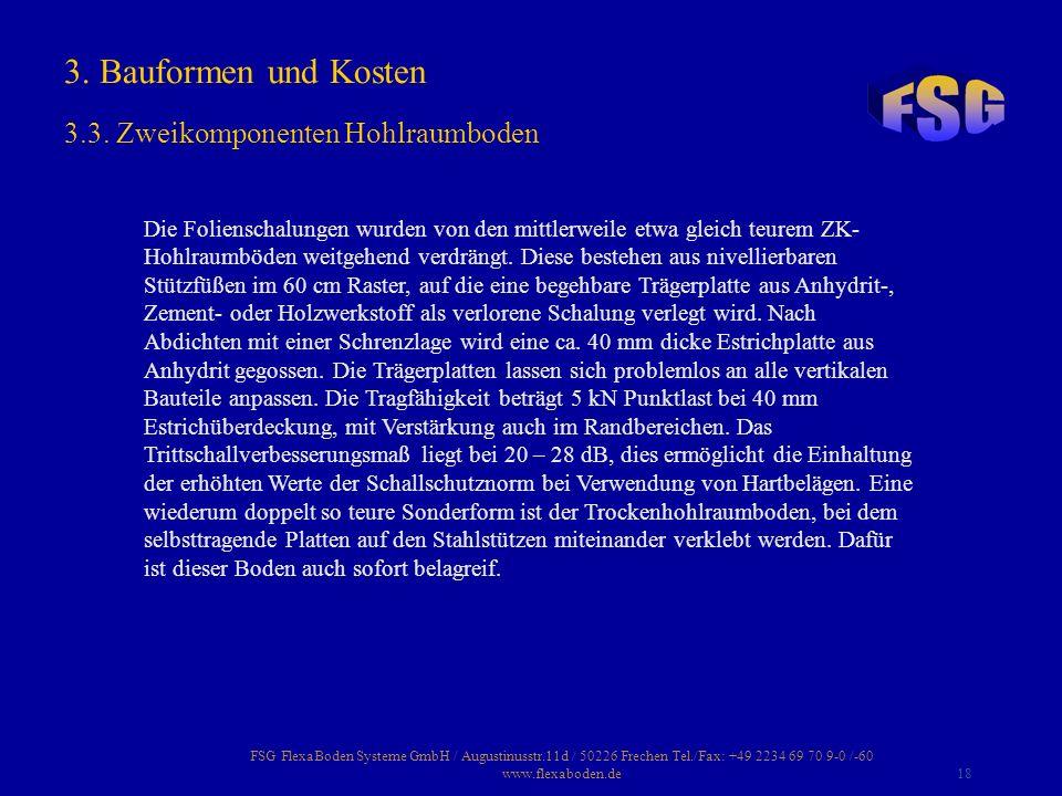 FSG FlexaBoden Systeme GmbH / Augustinusstr.11d / 50226 Frechen Tel./Fax: +49 2234 69 70 9-0 /-60 www.flexaboden.de18 Die Folienschalungen wurden von