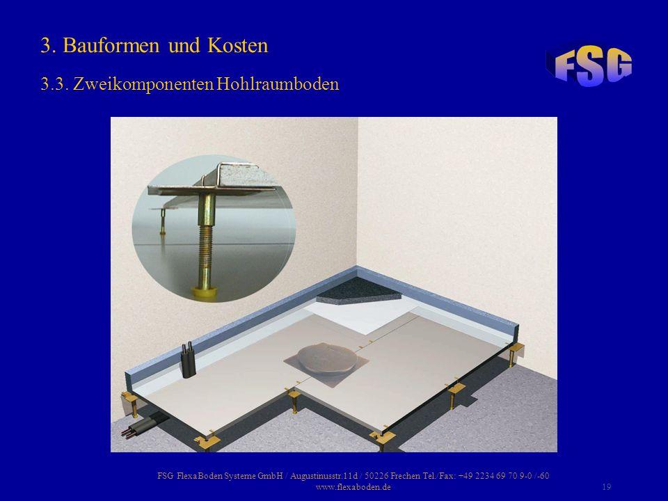 FSG FlexaBoden Systeme GmbH / Augustinusstr.11d / 50226 Frechen Tel./Fax: +49 2234 69 70 9-0 /-60 www.flexaboden.de19 3. Bauformen und Kosten 3.3. Zwe