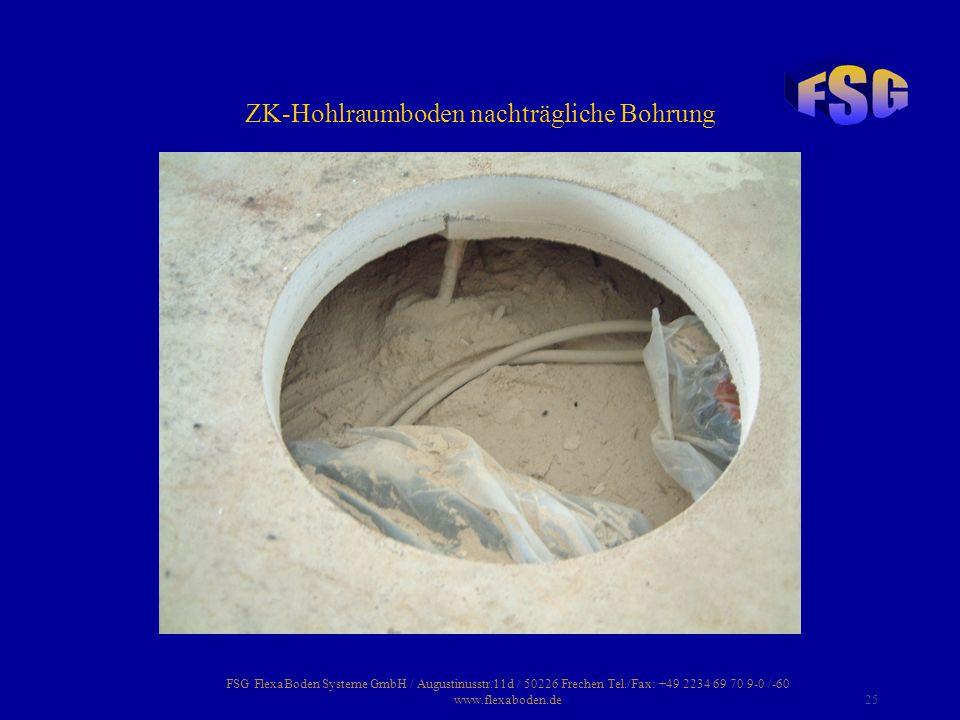 FSG FlexaBoden Systeme GmbH / Augustinusstr.11d / 50226 Frechen Tel./Fax: +49 2234 69 70 9-0 /-60 www.flexaboden.de25 ZK-Hohlraumboden nachträgliche B