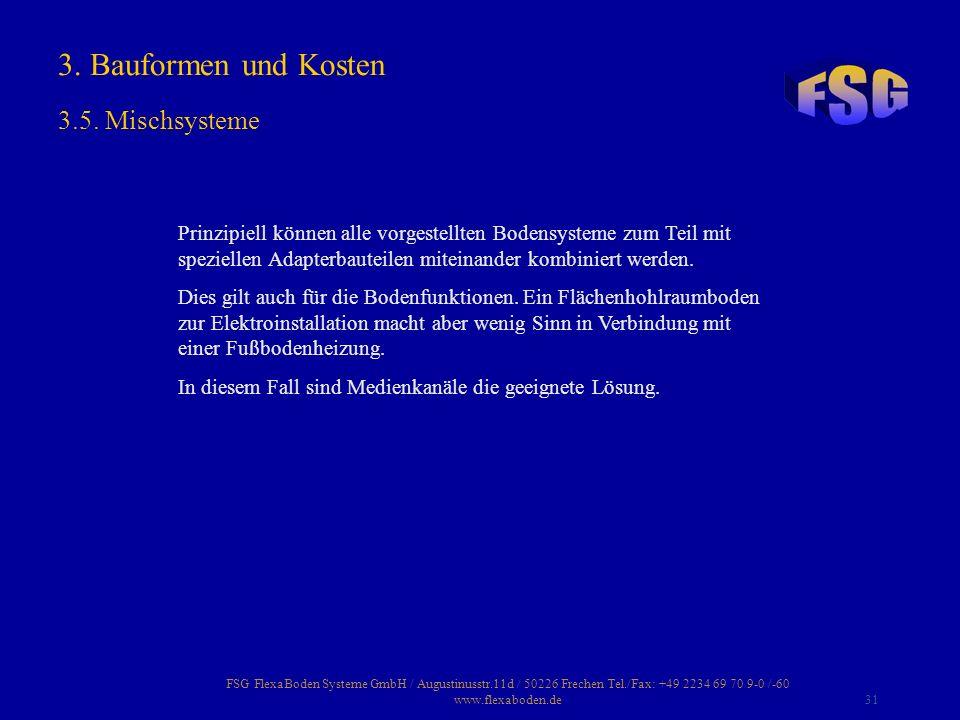FSG FlexaBoden Systeme GmbH / Augustinusstr.11d / 50226 Frechen Tel./Fax: +49 2234 69 70 9-0 /-60 www.flexaboden.de31 Prinzipiell können alle vorgeste
