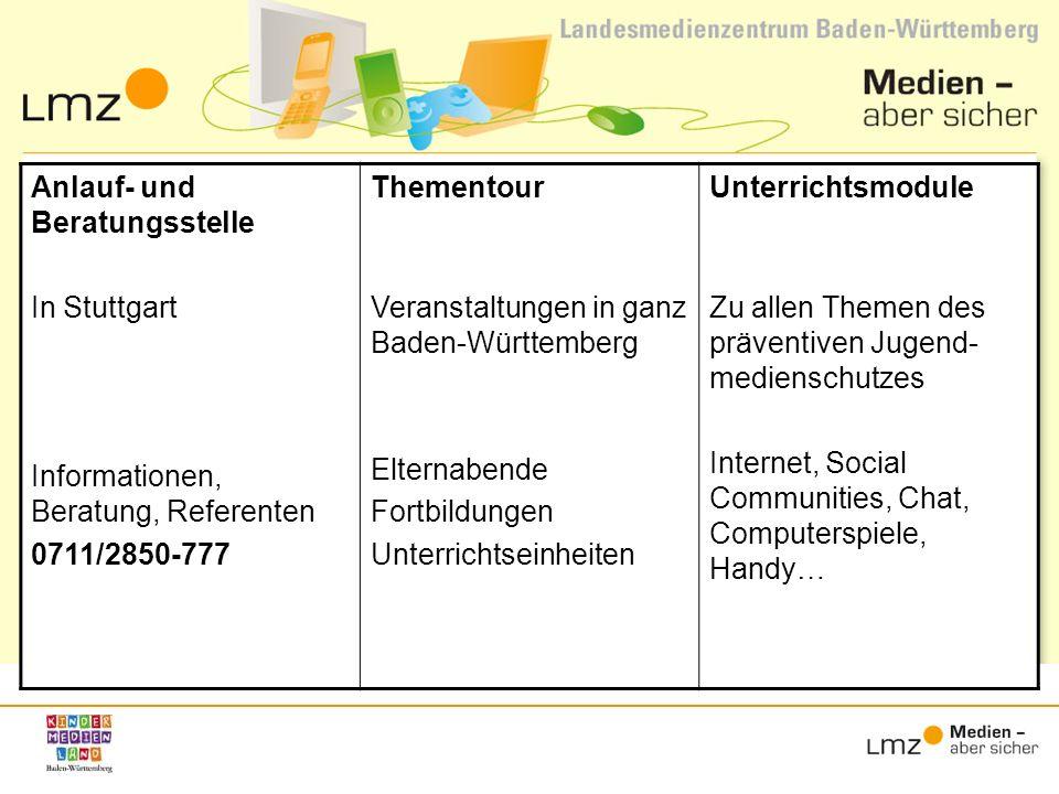 Anlauf- und Beratungsstelle In Stuttgart Informationen, Beratung, Referenten 0711/2850-777 Thementour Blindtextblindtext Veranstaltungen in ganz Baden