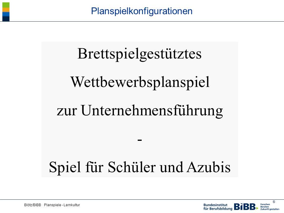 ® Blötz/BIBB Planspiele - Lernkultur Planspielkonfigurationen Brettspielgestütztes Wettbewerbsplanspiel zur Unternehmensführung - Spiel für Schüler un
