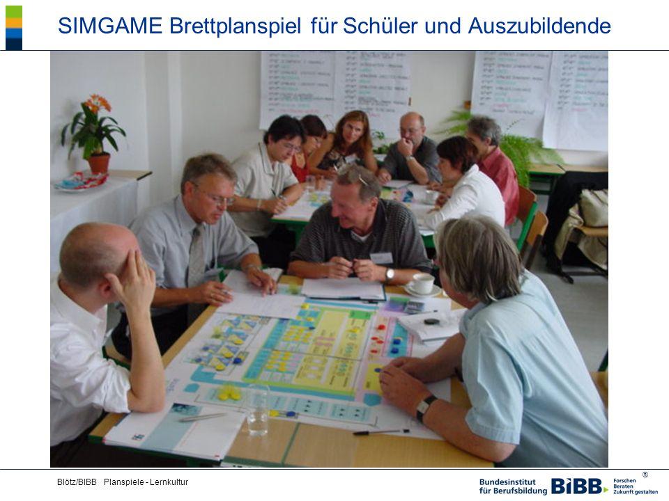 ® Blötz/BIBB Planspiele - Lernkultur SIMGAME Brettplanspiel für Schüler und Auszubildende